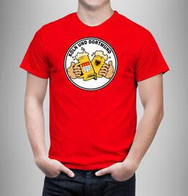 Köln Dortmund Freunschaft Bier Shirt Rot
