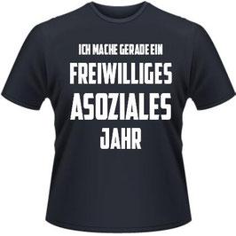 Freiwilliges asoziales Jahr Shirt Schwarz