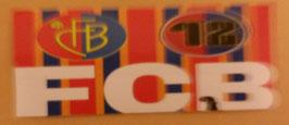 150 Basel FCB Vereins und 12er Logo bunt Aufkleber