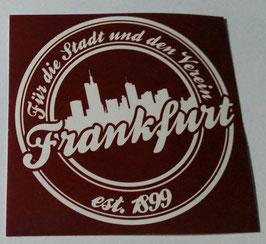 150 Frankfurt für die Stadt und den Verein Rund Aufkleber