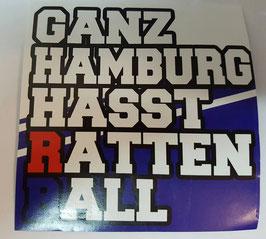 150 Ganz Hamburg hasst Rattenball Aufkleber
