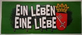 Bremen Ein Leben Eine Liebe Aufkleber