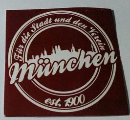 150 München für die Stadt und den Verein Rund Aufkleber