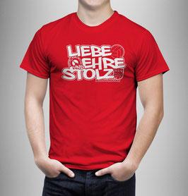 Köln Liebe Ehre Stolz Shirt Rot