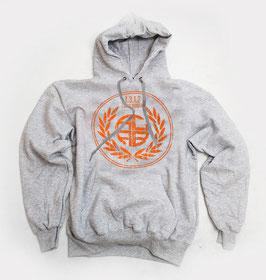 ACAB Orange Hoodie Grau