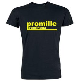 Promille Prominenz Shirt Schwarz /Gelb /Pink