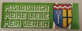 Gladbach Meine Liebe Mein Verein Länglich Aufkleber