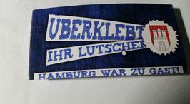 150x Hamburg überklebt Aufkleber