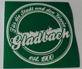 150 Gladbach für die Stadt und den Verein Rund Aufkleber