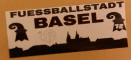 150 Basel Fussballstadt weiss Aufkleber