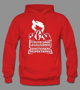 Pyro Hoodie Rot