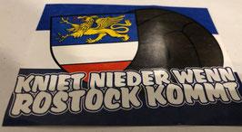 150 Rostock kniet nieder wenn Rostock kommt Aufkleber