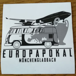 Gladbach Europapokal Aufkleber
