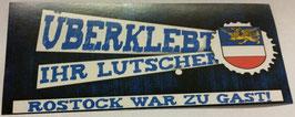150 Rostock überklebt Aufkleber