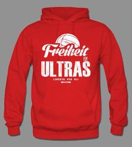 Freiheit für Ultras Hoodie Rot