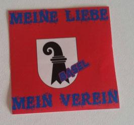 150 Basel Meine Liebe Mein Verein Aufkleber