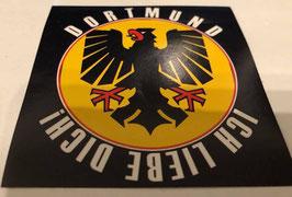 150 Dortmund ich liebe dich 8x8 Aufkleber