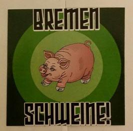 150 Bremen Schweine Aufkleber