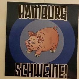 150 Hamburg Schweine Aufkleber