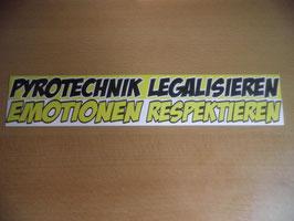 100 Pyrotechnik legalisieren 26x5 Riesig Gelb