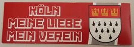 Köln Meine Liebe Mein Verein länglich Aufkleber
