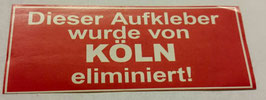 150 Köln elimiert Aufkleber