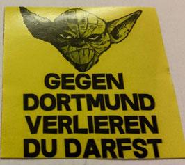 150 Dortmund Yoda verlieren du darfst Aufkleber