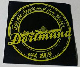 150 Dortmund für die Stadt und den Verein Rund Aufkleber