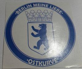 150 Berlin Meine Liebe Rund Aufkleber