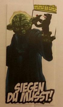 150 Berlin Yoda siegen du musst Aufkleber