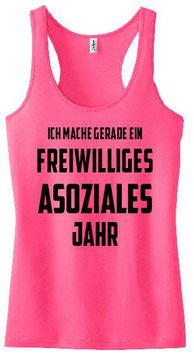Freiwilliges asoziales Jahr Tanktop Pink
