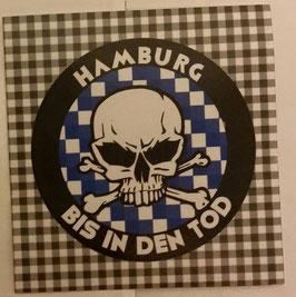 150x Hamburg bis in den Tod rund Aufkleber