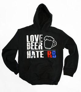 Love Beer Hate RB Hoodie Rot
