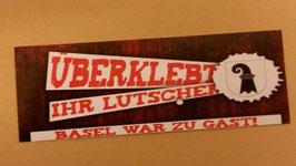 Basel überklebt Aufkleber
