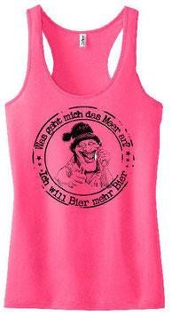 Mehr Bier Tanktop Pink