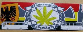 150 Dortmund Auswärts Hanfblatt Aufkleber