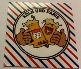150 Köln Paris Freundschaft Bier Aufkleber
