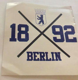 Berlin 1892 Kreuz Aufkleber