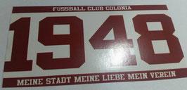 150 Köln 1948 Untertrich Meine Stadt Meine Liebe Mein Verein Aufkleber