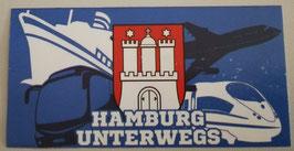 Hamburg unterwegs Aufkleber