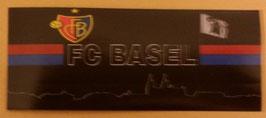 150 Basel Skyline Schwarz Aufkleber