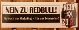 150 Nein zu Red Bull Aufkleber länglich