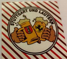 150 Stuttgart Kaiserslautern Freundschaft Bier Aufkleber