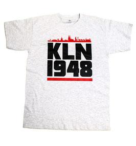 Köln 1948 rote Skyline Balken Shirt Grau