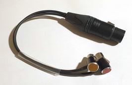 Kabelpeitsche XLR5F auf 2 x OPS-spezial mini XLRs