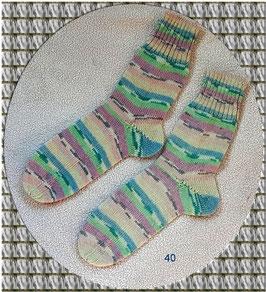 Sehr schöne Wollsocken in frischen Farben, 4-fädig!