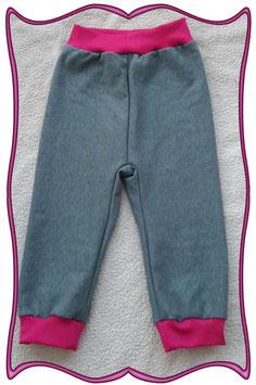 Baby-Pumphose,Kinderpumphose, jeansblau aus Sweatstoff!  (Art.-Nr.: 3001)
