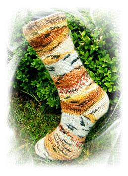 Wollsocken, Wollstrümpfe, 4-fädig,Hundertwasser!
