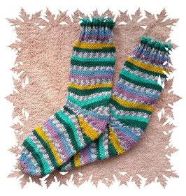 Sehr schöne Kinderwollsocken in frischen Farben, 8-fädig!