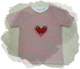 T-Shirt mit einem hübschen Applikationsherzen
